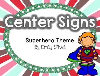Center Signs (Superhero Theme)