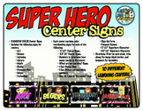 Center Signs {Superhero Theme Printables!}