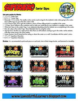 Center Signs {Superhero Theme Printables!}