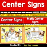 Center Signs With Editable Objectives | Center Posters | Real Photographs