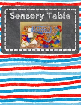 Center Signs With Space for Velcro Tags (Red, Yellow, and Blue Watercolor Theme)