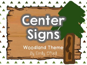 Center Signs (Woodland Theme)