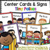 Programmable Center Signs and Cards - (Tiny Polkas)