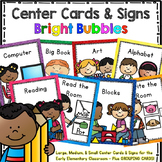 Programmable Center Signs and Cards - (Bright Bubbles)
