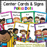Programmable Center Signs and Cards - (Polka Dots)