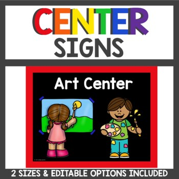 Center Signs and Cards in Primary and Black