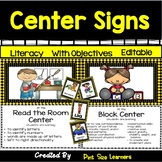 51 Center Signs With Objectives and Editable Management Ca