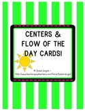 Center Signs and Flow of the Day/ Schedule Cards SIMPLE DESIGN, Back to School