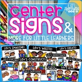 Center Signs and More - PreK, Preschool, Kindergarten, Pre-K