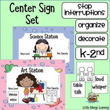 Center Signs and Noise Levels Ocean Theme EDITABLE