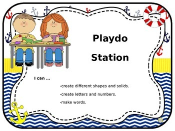 Center Signs and Station Signs (EDITABLE) ~ Nautical