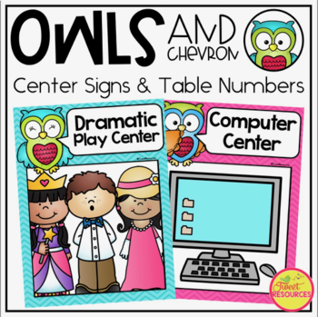 Center Signs in an Owls and Chevron Decor Theme