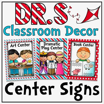 Center Signs and Table Number card in a Dr S Decor Theme
