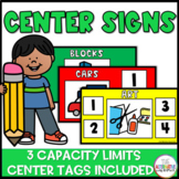 Center Signs and Tags: Pre-K, Preschool, and Kindergaten