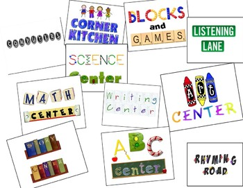 Center Signs for Early Childhood