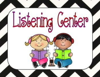 Center Signs for Guided Reading or Reading Workshop