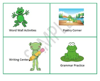 Center Signs for Language Arts