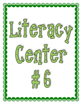 Center Signs for Literacy and Math Centers