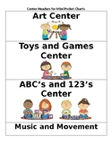 Center Signs for Mini Pocket Charts