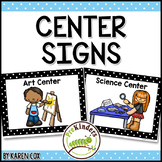 Center Signs for Preschool & Pre-K