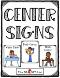 Center Signs for Preschool and Special Ed Classes