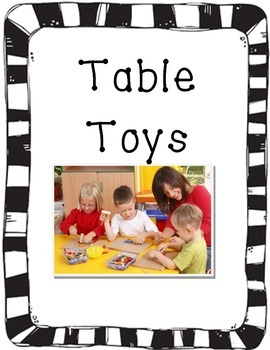 Center Signs for preschool classroom black and white borders