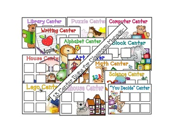 Center Signs for primary classroom