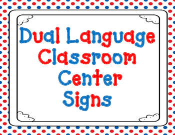graphic relating to Free Printable Classroom Signs and Labels identified as Bilingual Middle Indicators Worksheets Coaching Products TpT