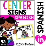 Classroom Center Signs and Cards {SPANISH}