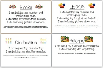 Center Signs with Learning Targets