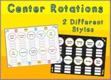 Center Station Rotation Charts for Reading or Math Promethean Flipchart