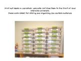 Center Storage Labels