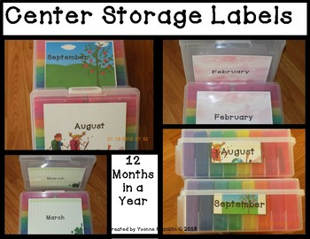 Center Storage Labels