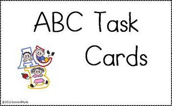 Center Task Cards - Letters