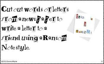 Center Task Cards - Newspaper
