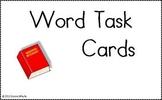 Center Task Cards - Words
