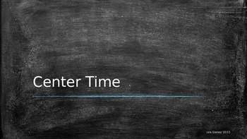 Center Time!