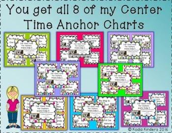Center Time Anchor Posters Koala-Themed Bundle
