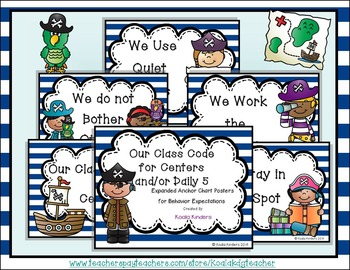 Center Time Anchor Posters - Pirate Theme