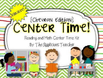 Reading and Math Center Editable Label Kit