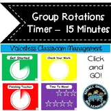 Daily Centers Countdown Timer - Easy Classroom Management 15 Minute Timer