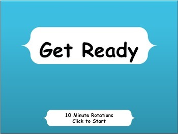 Daily Centers Countdown Classroom Management Timer -Primary 10 Minutes Grades