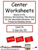 Center Worksheets for Treasures Unit 5 Reading