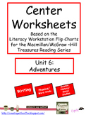 Center Worksheets for Treasures Unit 6 Reading
