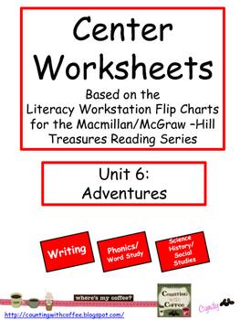 Center Worksheets for Treasures Unit 6 Reading