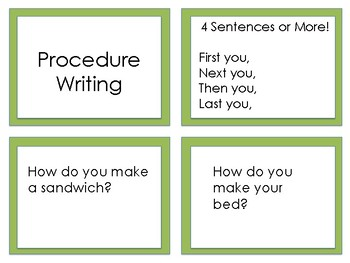 Center Writing Prompts