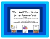 Center activities: Letter Pattern Cards and Practice!