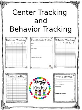 Center and Behavior Tracking Bundle