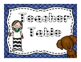 Dog theme center and schedule signs