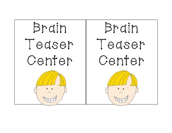 Center group task cards! Perfect to organize which group is in which center!